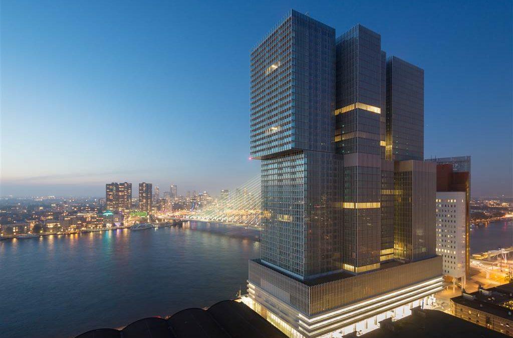 De techniek van vertical city De Rotterdam